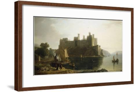 Conway Castle, North Wales-William Daniell-Framed Art Print