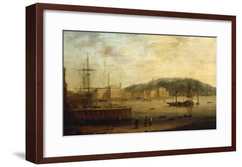 Plymouth Harbour with the Royal William Victualling Yard-William Daniell-Framed Art Print