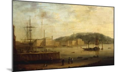 Plymouth Harbour with the Royal William Victualling Yard-William Daniell-Mounted Giclee Print