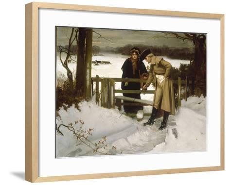 The Lovers Vow' (Scene c.1800)-William Holyoake-Framed Art Print