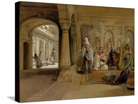 The Mahomedam Hareem, Delhi, 1864-William Simpson-Stretched Canvas Print