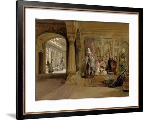 The Mahomedam Hareem, Delhi, 1864-William Simpson-Framed Art Print