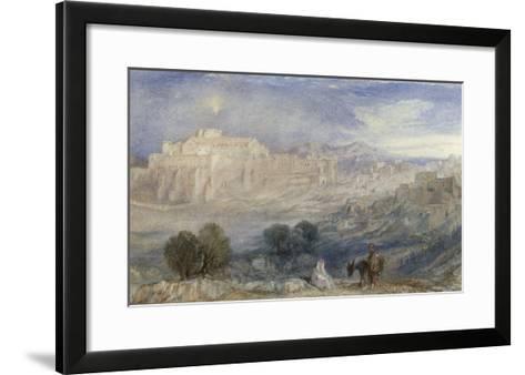 Bethlehem - The Flight into Egypt, c.1833-1836-J^ M^ W^ Turner-Framed Art Print