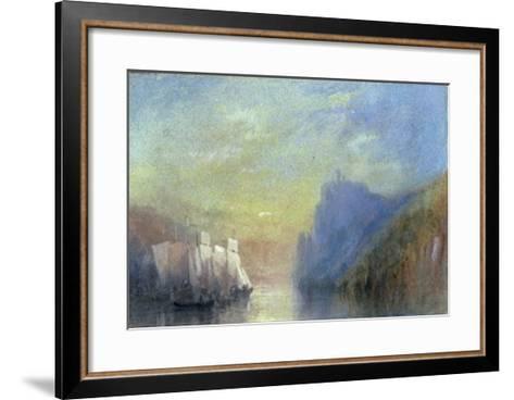 On the Rhine, c.1830-J^ M^ W^ Turner-Framed Art Print