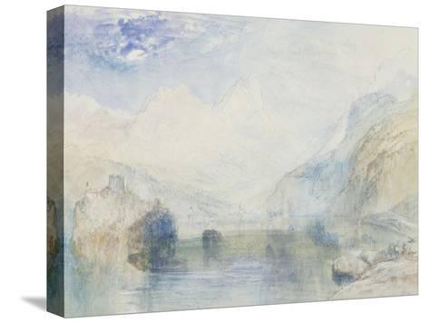 The Lauerzersee with Schwyz and the Mythen, early 1840's-J^ M^ W^ Turner-Stretched Canvas Print