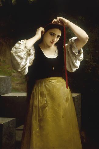 La Toilette Rustique, 1869-William Adolphe Bouguereau-Stretched Canvas Print
