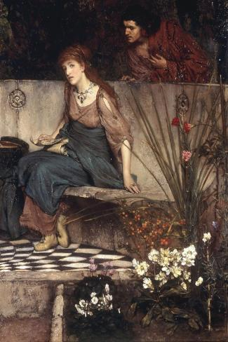 The First Reproach-Sir Lawrence Alma-Tadema-Stretched Canvas Print