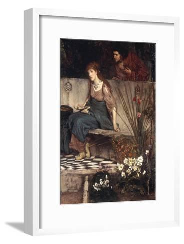 The First Reproach-Sir Lawrence Alma-Tadema-Framed Art Print