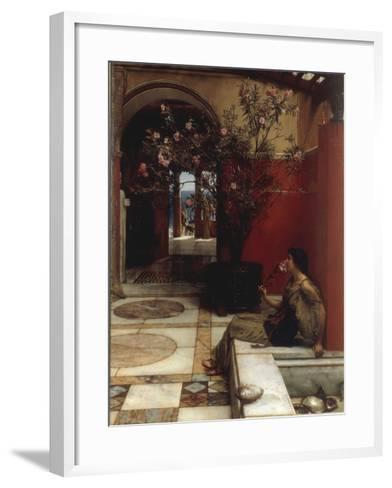 The Oleander-Sir Lawrence Alma-Tadema-Framed Art Print