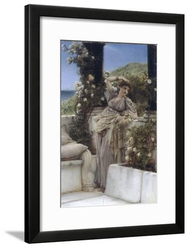 Thou Rose of all the Roses-Sir Lawrence Alma-Tadema-Framed Art Print