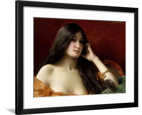 Portrait of a Young Woman-Jules Frederic Ballavoine-Framed Art Print