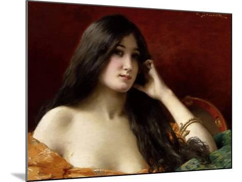 Portrait of a Young Woman-Jules Frederic Ballavoine-Mounted Giclee Print