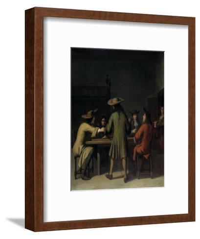 Interior with Cavaliers Smoking-Job Adriaensz Berckheyde-Framed Art Print