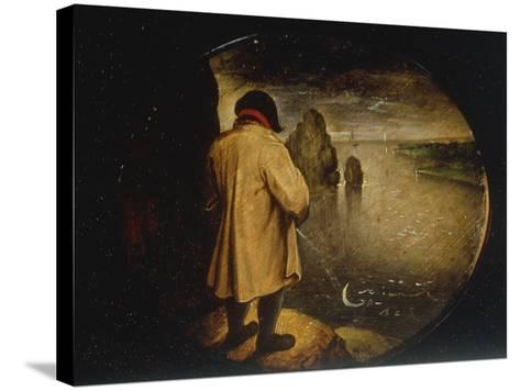 A Man Pissing on the Moon-Pieter Breugel the Elder-Stretched Canvas Print