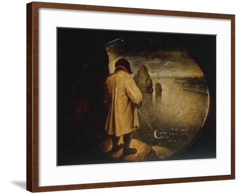 A Man Pissing on the Moon-Pieter Breugel the Elder-Framed Art Print