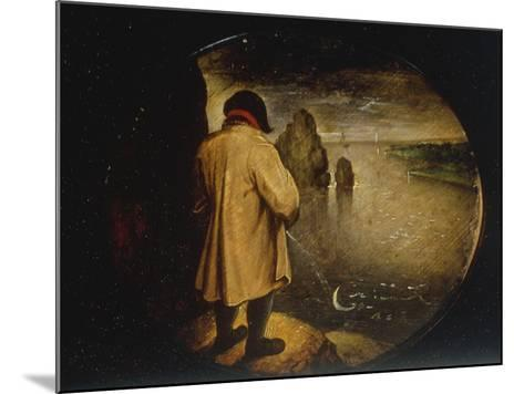 A Man Pissing on the Moon-Pieter Breugel the Elder-Mounted Giclee Print