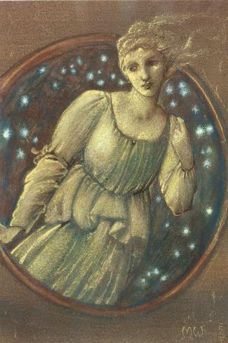 The Nymph of the Stars, c.1888-Edward Burne-Jones-Stretched Canvas Print
