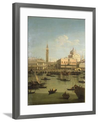 A Capriccio View of the Piazzetta with the Church of Il Redentore-Canaletto-Framed Art Print