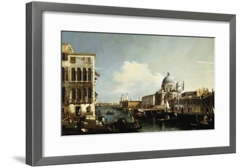Venice, the Grand Canal: the Salute and Dogana from the Campo Sta Maria Zobenigo-Canaletto-Framed Art Print