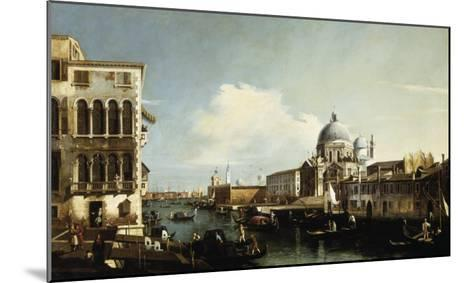 Venice, the Grand Canal: the Salute and Dogana from the Campo Sta Maria Zobenigo-Canaletto-Mounted Giclee Print