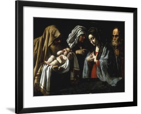 The Presentation in the Temple-Caravaggio-Framed Art Print