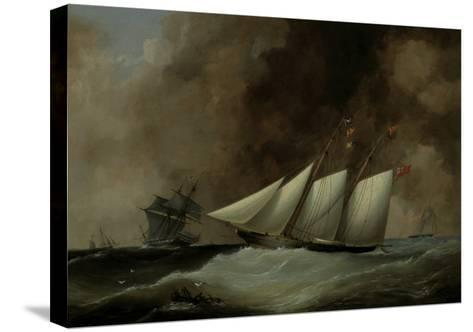 The Esmeralda under Full Sail, 1846-Nicholas Matthew Condy-Stretched Canvas Print
