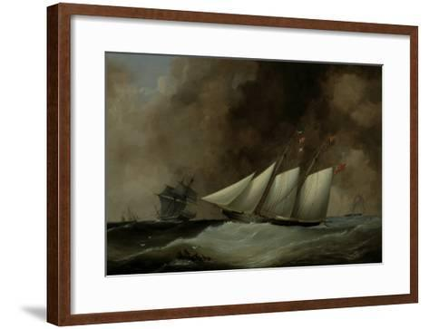 The Esmeralda under Full Sail, 1846-Nicholas Matthew Condy-Framed Art Print