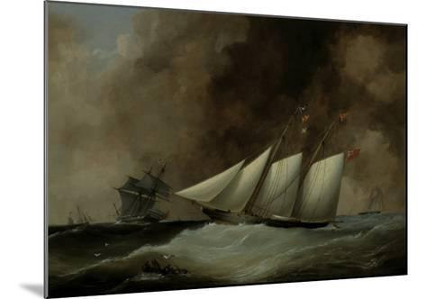 The Esmeralda under Full Sail, 1846-Nicholas Matthew Condy-Mounted Giclee Print