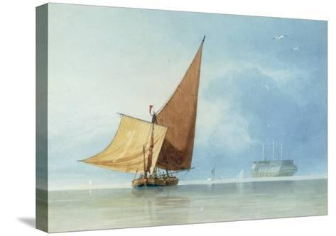 Shipping at the Entrance of the Meadway, Kent-Miles Edmund Cotman-Stretched Canvas Print