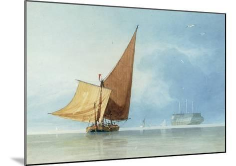 Shipping at the Entrance of the Meadway, Kent-Miles Edmund Cotman-Mounted Giclee Print