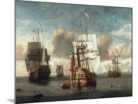 A Calm with British Shipping at Anchor-L. deMan-Mounted Giclee Print