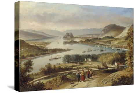 The Clyde from Dalnotter Hill, 1857-Thomas Dudgeon-Stretched Canvas Print