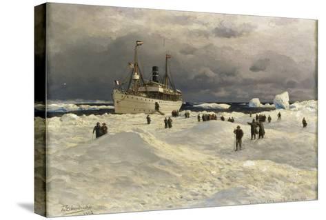 The Oihonna in Ice, Near Spitzbergen, 1905-Themistocles von Eckenbrecher-Stretched Canvas Print