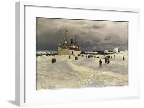 The Oihonna in Ice, Near Spitzbergen, 1905-Themistocles von Eckenbrecher-Framed Art Print
