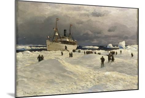 The Oihonna in Ice, Near Spitzbergen, 1905-Themistocles von Eckenbrecher-Mounted Giclee Print