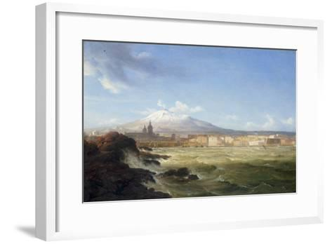 A View of Mount Etna from the Sea, 1833-Thomas Fearnley-Framed Art Print
