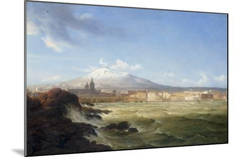 A View of Mount Etna from the Sea, 1833-Thomas Fearnley-Mounted Giclee Print