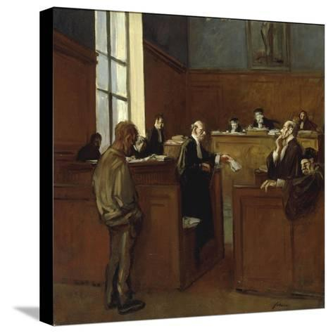 A Plea for Mercy-Jean Louis Forain-Stretched Canvas Print