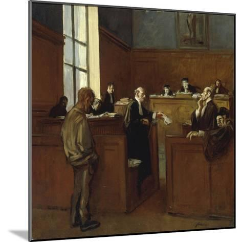 A Plea for Mercy-Jean Louis Forain-Mounted Giclee Print
