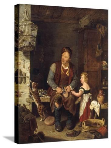 The Cobbler, 1839-Alexander Fraser-Stretched Canvas Print