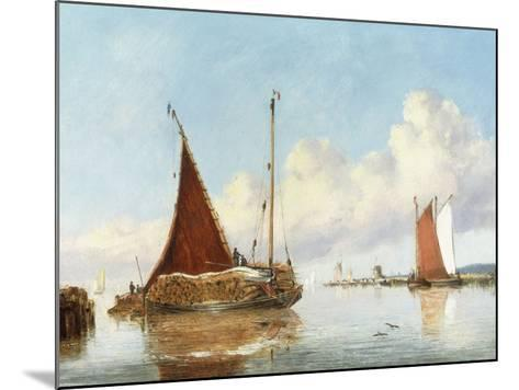 Barge Carrying Reeds on the Norfolk Broads-William Philip Barnes Freeman-Mounted Giclee Print