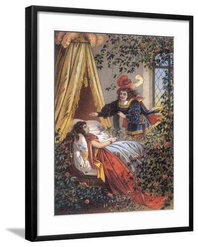 The Prince Discovers the Sleeping Princess- Jouvet-Framed Art Print