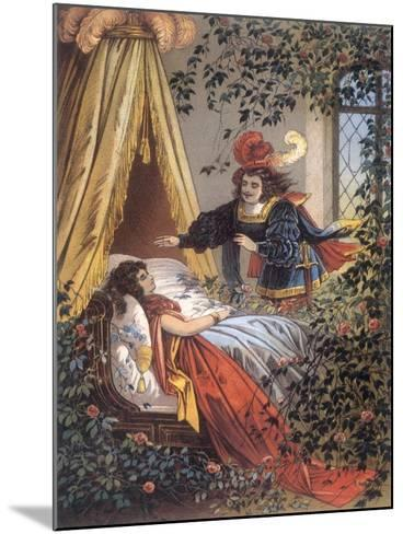 The Prince Discovers the Sleeping Princess- Jouvet-Mounted Giclee Print