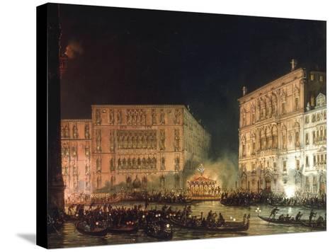 A Venetian Festival-Giovanni Grubacs-Stretched Canvas Print