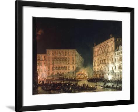 A Venetian Festival-Giovanni Grubacs-Framed Art Print