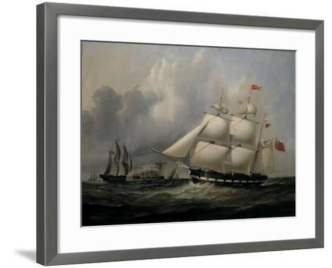 The Barque 'Rival' (335 tons) off the Coast-Joseph Heard-Framed Art Print