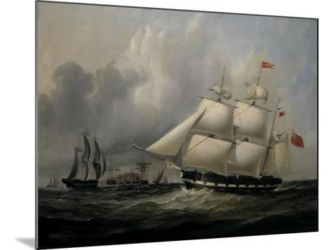 The Barque 'Rival' (335 tons) off the Coast-Joseph Heard-Mounted Giclee Print
