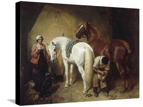 Shoeing Imaum, 1856-John Frederick Herring-Stretched Canvas Print