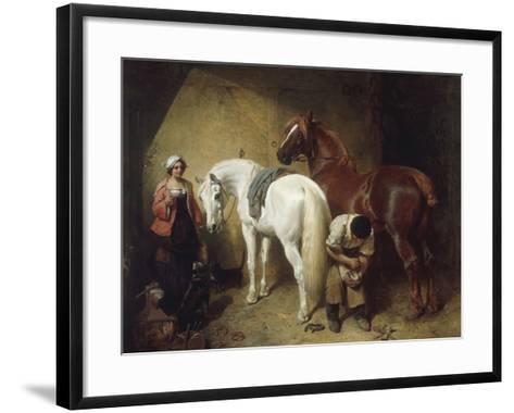 Shoeing Imaum, 1856-John Frederick Herring-Framed Art Print