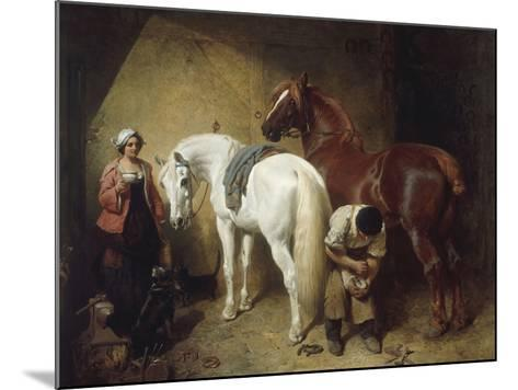Shoeing Imaum, 1856-John Frederick Herring-Mounted Giclee Print